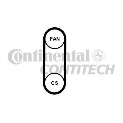Поликлиновой ремень CONTITECH арт. 4PK711ELAST