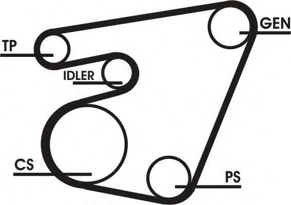 Поликлиновой ременный комплект CONTITECH арт. 6PK1767D1