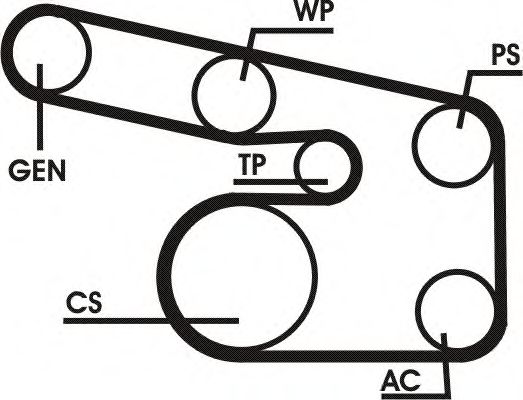 Поликлиновой ременный комплект CONTITECH арт. 6PK1900D1