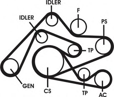 Поликлиновой ременный комплект CONTITECH арт. 6PK2404D1