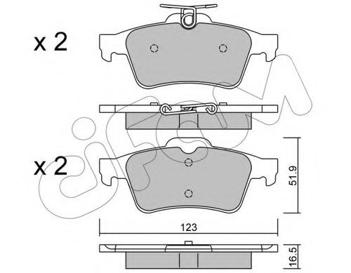 Комплект тормозных колодок, дисковый тормоз CIFAM арт.