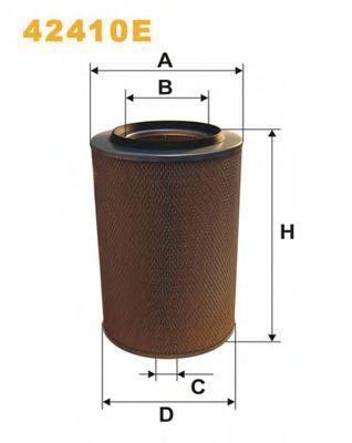 Воздушный фильтр WIXFILTERS арт. 42410E