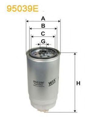 Фильтры топливные Топливный фильтр WIXFILTERS арт. 95039E