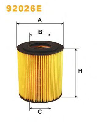 Масляный фильтр WIXFILTERS арт. 92026E