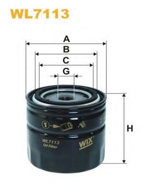 Масляный фильтр WIXFILTERS арт. WL7113