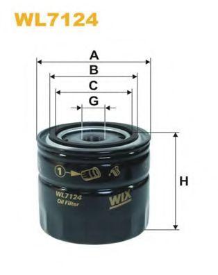 Масляный фильтр WIXFILTERS арт. WL7124