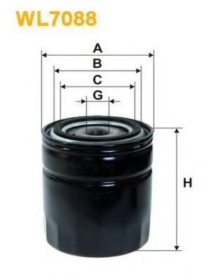 Фильтры масляные Масляный фильтр WIXFILTERS арт. WL7088