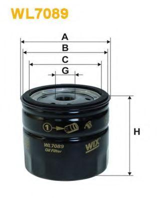 Фильтры масляные Масляный фильтр WIXFILTERS арт. WL7089