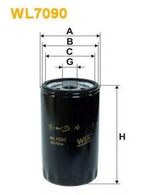 Масляный фильтр WIXFILTERS арт. WL7090