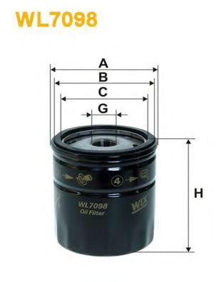 Масляный фильтр WIXFILTERS арт. WL7098