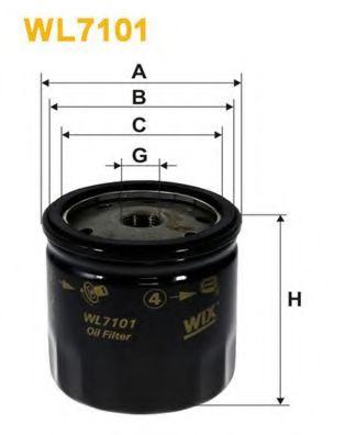 Масляный фильтр WIXFILTERS арт. WL7101