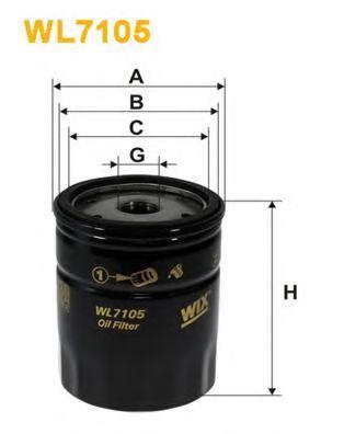 Фильтры масляные Масляный фильтр WIXFILTERS арт. WL7105