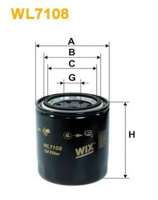 Масляный фильтр WIXFILTERS арт. WL7108