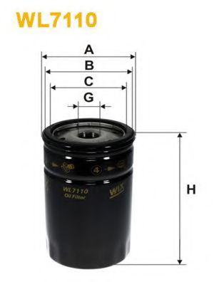 Фильтры масляные Масляный фильтр WIXFILTERS арт. WL7110