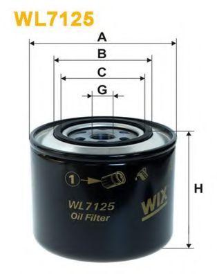 Масляный фильтр WIXFILTERS арт. WL7125