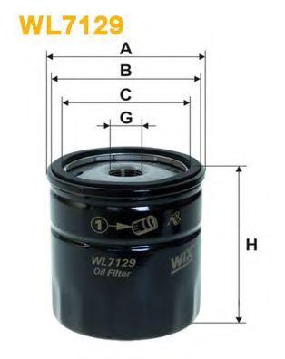 Масляный фильтр WIXFILTERS арт. WL7129