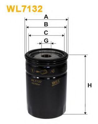 Фильтры масляные Масляный фильтр WIXFILTERS арт. WL7132