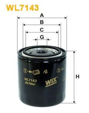 Фильтры масляные Масляный фильтр WIXFILTERS арт. WL7143