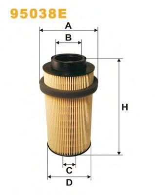 Фильтры топливные Топливный фильтр WIXFILTERS арт. 95038E