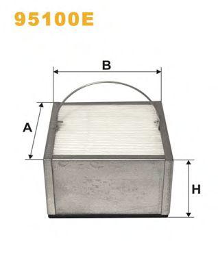 Фильтры топливные Топливный фильтр WIXFILTERS арт. 95100E