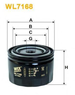 Масляный фильтр WIXFILTERS арт. WL7168