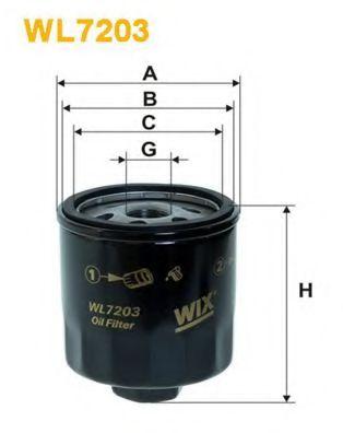 Фильтры масляные Масляный фильтр WIXFILTERS арт. WL7203