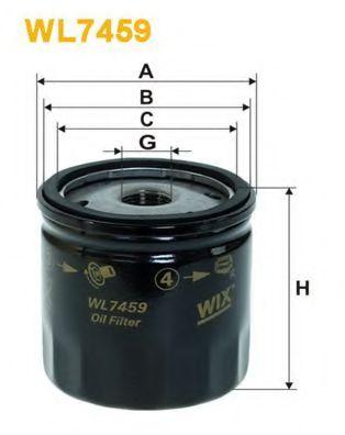 Фильтры масляные Масляный фильтр WIXFILTERS арт. WL7459