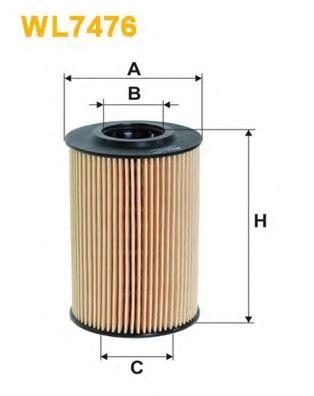 Масляный фильтр WIXFILTERS арт. WL7476