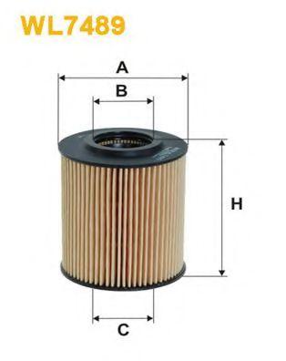 Фильтры масляные Масляный фильтр WIXFILTERS арт. WL7489