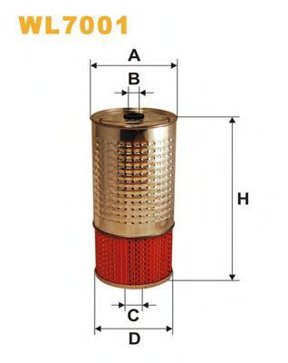 Фильтры масляные Масляный фильтр WIXFILTERS арт. WL7001