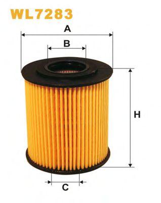 Фильтры масляные Масляный фильтр WIXFILTERS арт. WL7283