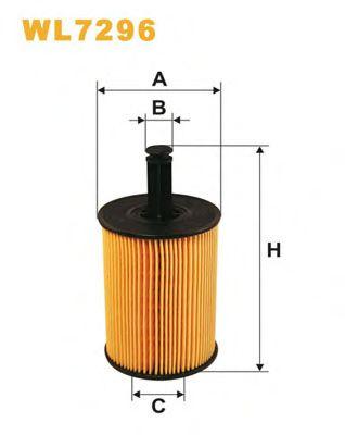 Фильтры масляные Масляный фильтр WIXFILTERS арт. WL7296