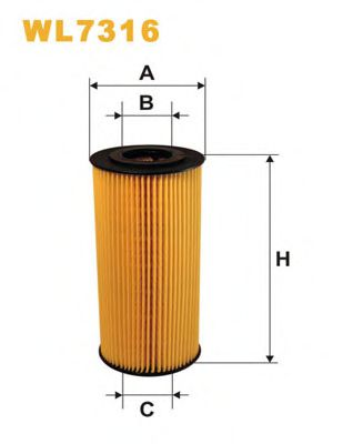 Фильтры масляные Масляный фильтр WIXFILTERS арт.