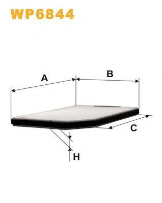 Фильтр, воздух во внутренном пространстве WIXFILTERS арт. WP6844
