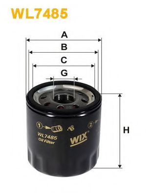 Масляный фильтр WIXFILTERS арт. WL7485