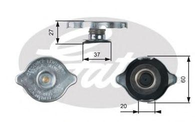 Крышка, резервуар охлаждающей жидкости GATES арт. RC217
