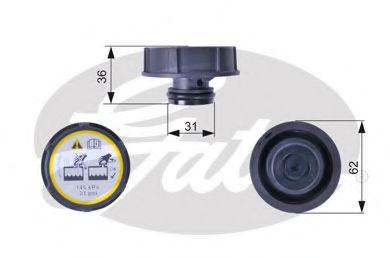 Крышка, резервуар охлаждающей жидкости GATES арт. RC240