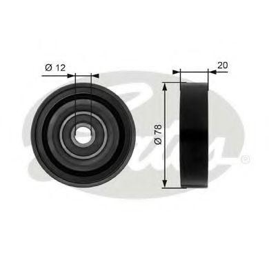 Натяжной ролик, поликлиновой  ремень GATES арт. T36086