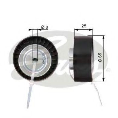 Паразитный / ведущий ролик, поликлиновой ремень GATES арт. T36124