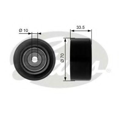 Паразитный / ведущий ролик, поликлиновой ремень GATES арт. T36173