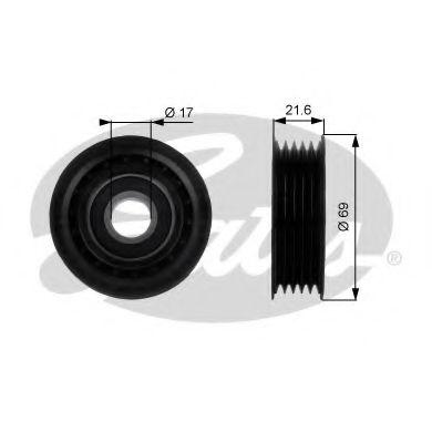 Паразитный / ведущий ролик, поликлиновой ремень GATES арт. T36189
