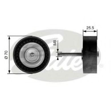 Паразитный / ведущий ролик, поликлиновой ремень GATES арт. T36204