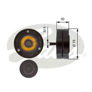 Паразитный / ведущий ролик, поликлиновой ремень GATES арт. T36236