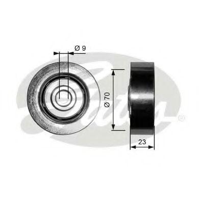 Паразитный / ведущий ролик, поликлиновой ремень GATES арт. T36297