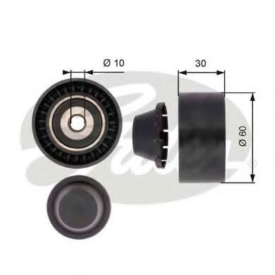 Паразитный / ведущий ролик, поликлиновой ремень GATES арт. T36380