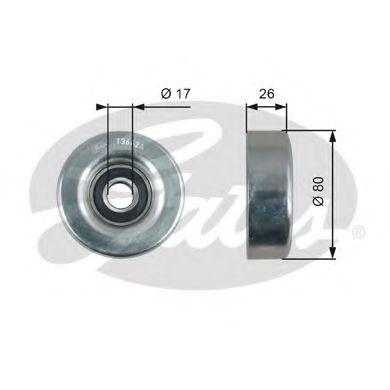 Паразитный / ведущий ролик, поликлиновой ремень GATES арт. T36424