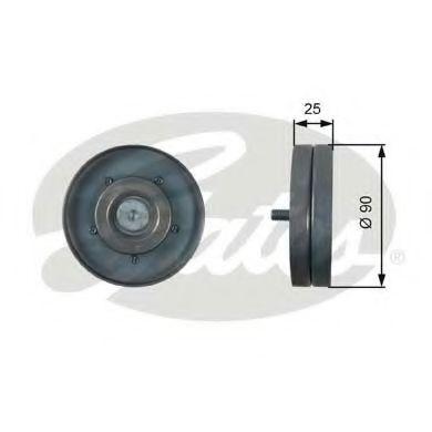 Паразитный / ведущий ролик, поликлиновой ремень GATES арт.