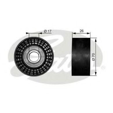 Паразитный / ведущий ролик, поликлиновой ремень GATES арт. T38018