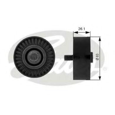 Паразитный / ведущий ролик, поликлиновой ремень GATES арт. T38027