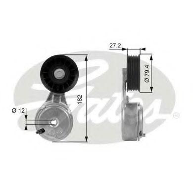Натяжной ролик, поликлиновой  ремень GATES арт. T38104